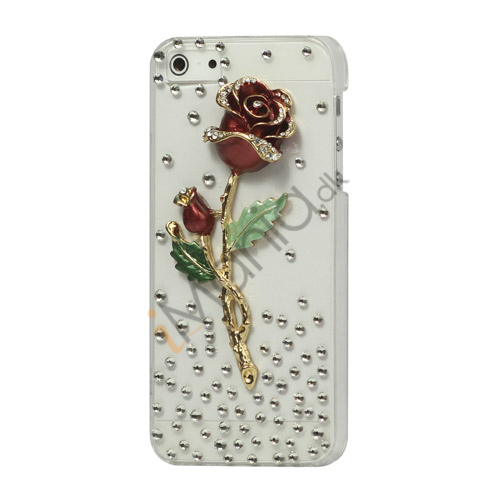 Elegant 3D Rose Diamond cystal Case til iPhone 5