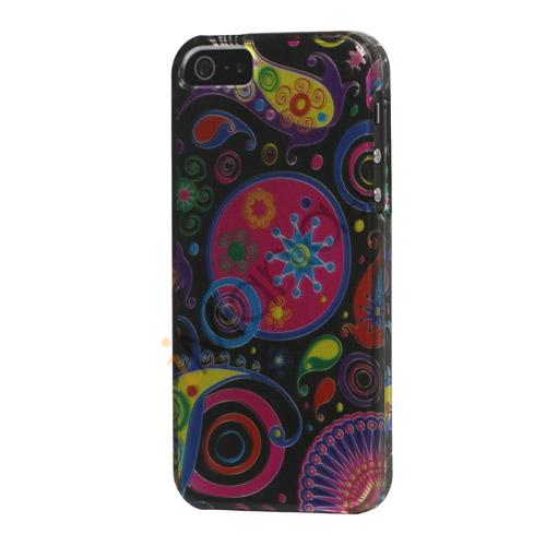 Image of   Farverige Blomster Ribbon Snap-On Hard Case til iPhone 5