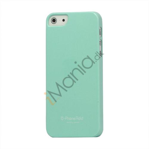 Billede af Premium Blankt Hard Back Case iPhone 5 cover - Cyan