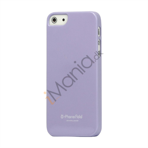 Premium Blankt Hard Back Case iPhone 5 cover - Lilla