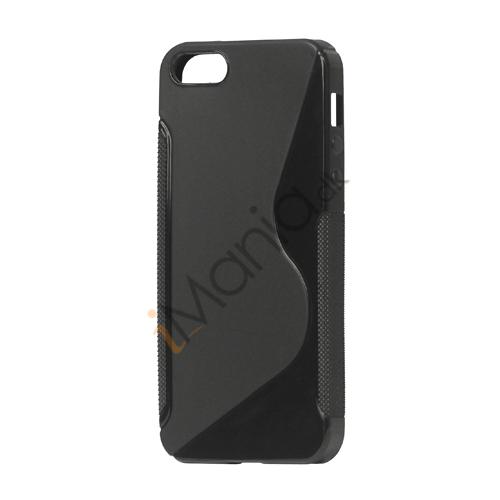 Image of   S Formet TPU Gele Case Cover til iPhone 5 - Sort