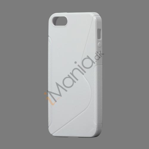 Image of   S Formet TPU Gele Case Cover til iPhone 5 - Hvid