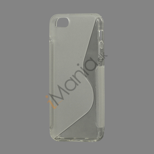 Image of   S Formet TPU Gele Case Cover til iPhone 5 - Gennemsigtig