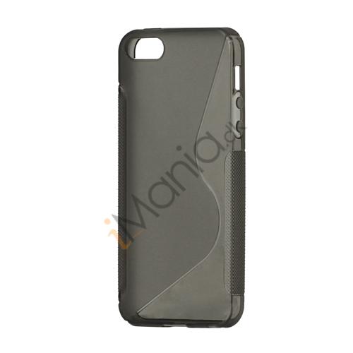 Image of   S Formet TPU Gele Case Cover til iPhone 5 - Grå
