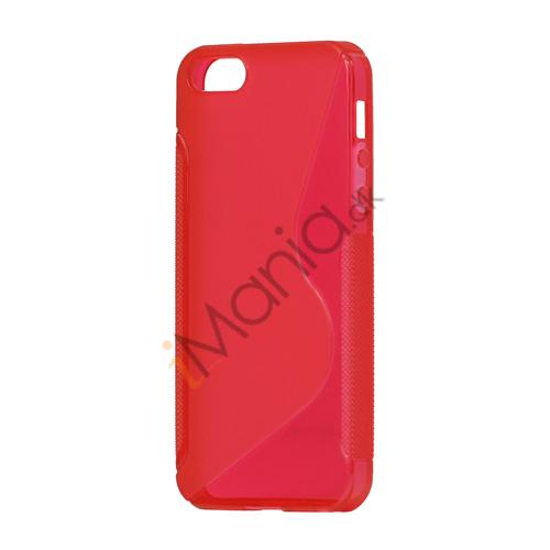 Image of   S Formet TPU Gele Case Cover til iPhone 5 - Rød