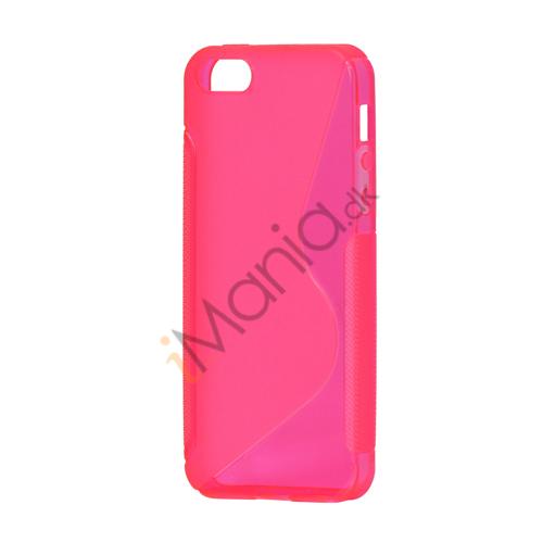 Image of   S Formet TPU Gele Case Cover til iPhone 5 - Rose