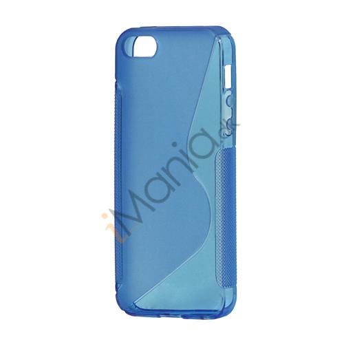 Image of   S Formet TPU Gele Case Cover til iPhone 5 - Blå