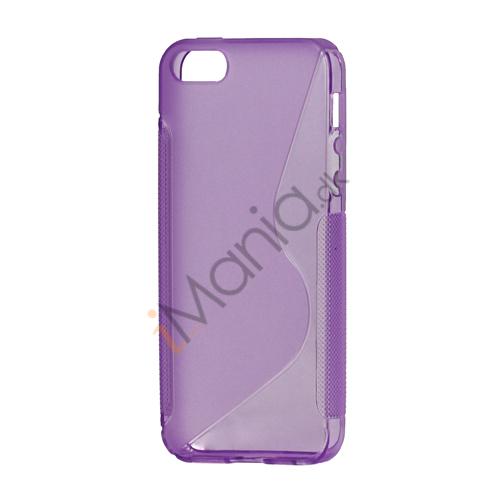 Image of   S Formet TPU Gele Case Cover til iPhone 5 - Lilla