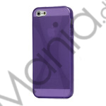 Image of   X Formet iPhone 5 TPU Gel Cover Case - Lilla