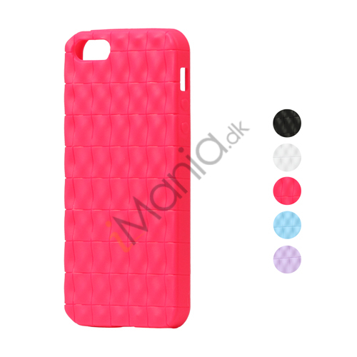 Image of   Glitrende Oblong Gitter Robust TPU Gele Case til iPhone 5