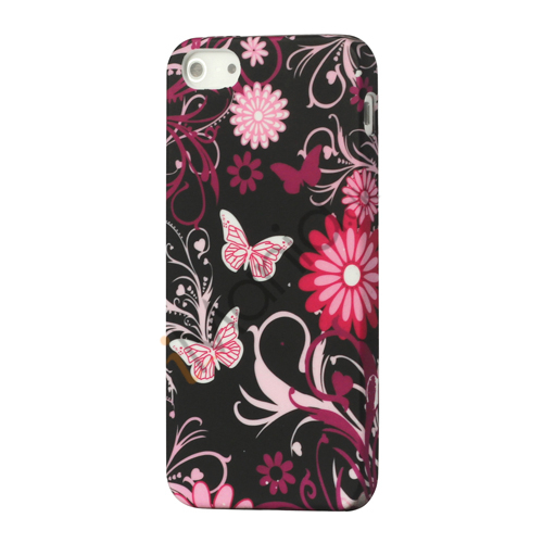 Image of   Butterfly Flora TPU Gele Case Cover til iPhone 5