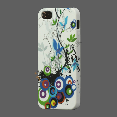 Image of   Circle Blomster TPU Gel Case til iPhone 5