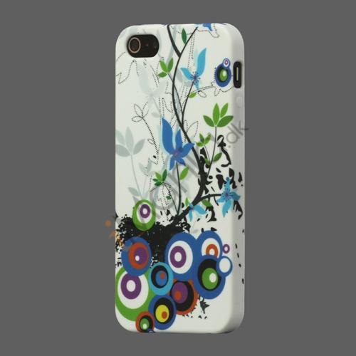 Billede af Circle Blomster TPU Gel Case til iPhone 5