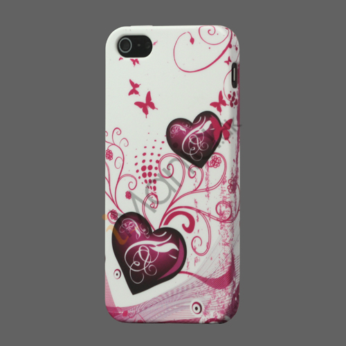 To Hjertes TPU Cover Case til iPhone 5