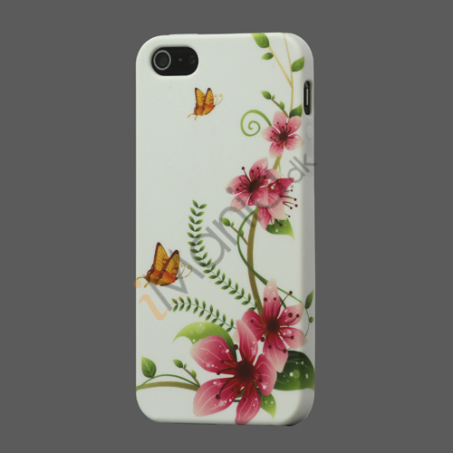 Image of   Fersken Blomst iPhone 5 TPU Gele Case