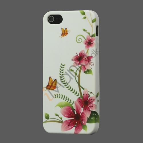 Billede af Fersken Blomst iPhone 5 TPU Gele Case