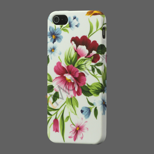 Flora TPU Gele Case til iPhone 5