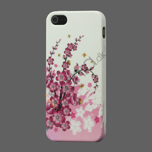 Image of   Elegant Blomst TPU Gele Cover til iPhone 5
