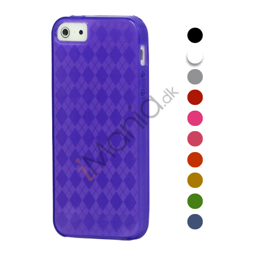 Stylish Grid TPU Gel Case iPhone 5 cover