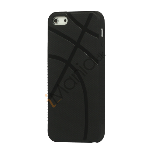 Anti-slip Basketball Grain TPU Gel Cover Case til iPhone 5