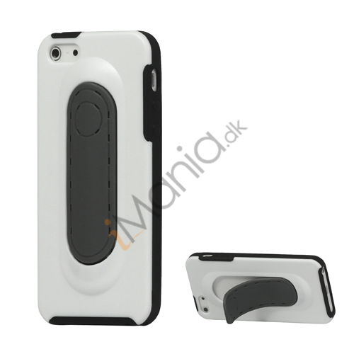TPU og plast Hybrid Stand Case iPhone 5 cover