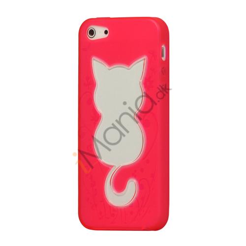 Image of   Sød Gennemsigtig Cat TPU Gel Case iPhone 5 cover
