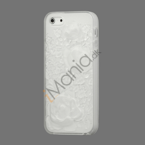 Image of   3D Sculpture Design Rose Blomster Soft TPU Case iPhone 5 cover