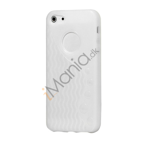 Image of   Anti-slip Bølge TPU Case iPhone 5 cover - Hvid