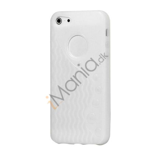 Image of   Anti-slip Bølge TPU Case iPhone 5 cover - Hvid
