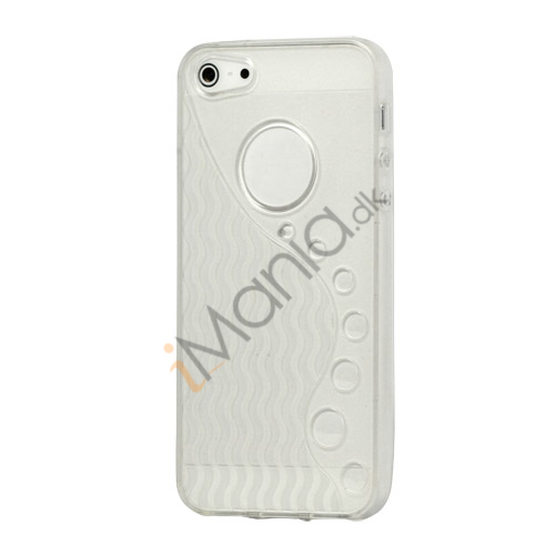 Anti-slip Bølge TPU Case iPhone 5 cover - Transparent