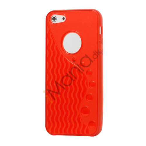 Anti-slip Bølge TPU Case iPhone 5 cover - Red