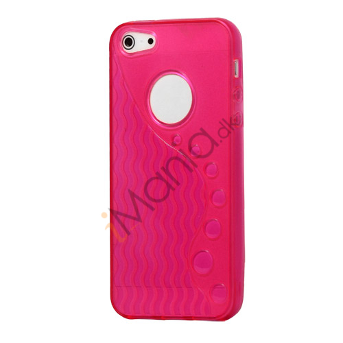 Anti-slip Bølge TPU Case iPhone 5 cover - Rose