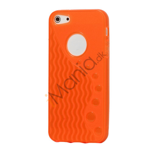 Anti-slip Bølge TPU Case iPhone 5 cover - Orange