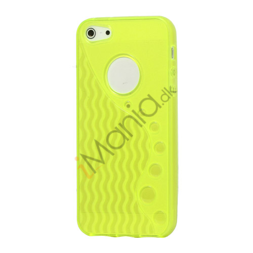 Image of   Anti-slip Bølge TPU Case iPhone 5 cover - Gul