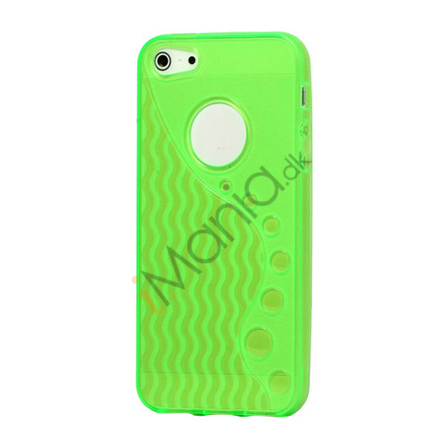 Image of   Anti-slip Bølge TPU Case iPhone 5 cover - Grøn