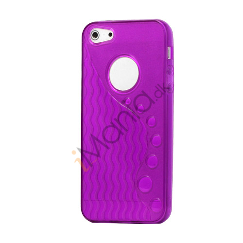 Anti-slip Bølge TPU Case iPhone 5 cover - Lilla