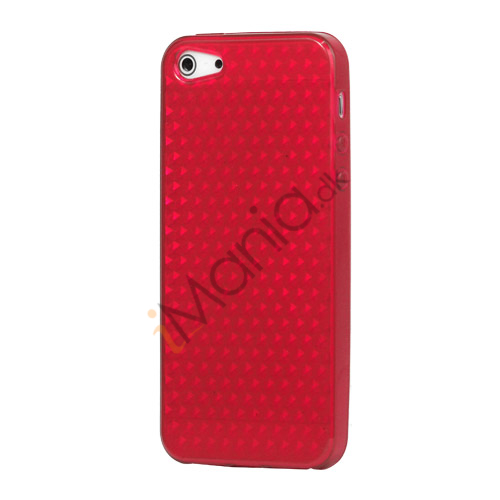 Image of   Diamond TPU Gel iPhone 5 cover - Rød