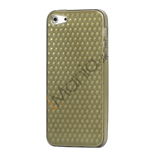 Image of   Diamond TPU Gel iPhone 5 cover - Grå
