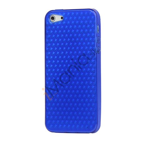 Diamond TPU Gel iPhone 5 cover - Blå