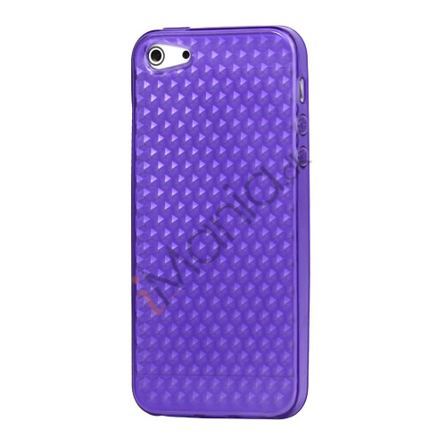 Image of   Diamond TPU Gel iPhone 5 cover - Lilla