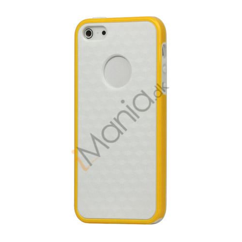 Slim Hexagon TPU Case iPhone 5 cover - Gul