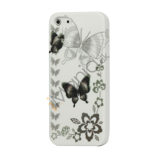 Flying Butterflies Gel TPU Taske iPhone 5 cover
