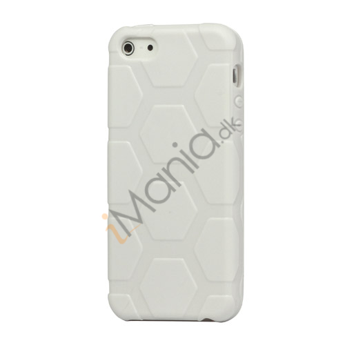 Image of   Anti-slip Fodbold Mønster TPU Case iPhone 5 cover - Hvid