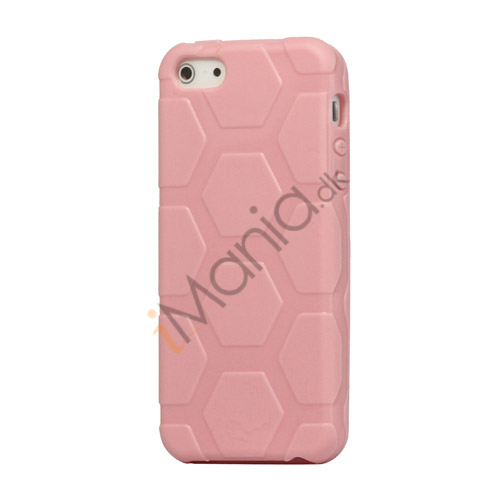 Image of   Anti-slip Fodbold Mønster TPU Case iPhone 5 cover - Pink