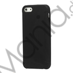 Image of   Stylish Blade TPU Gel Cover Case til iPhone 5 - Sort