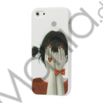 Image of   Pretty Girl med Hands on the Face Soft TPU Case til iPhone 5