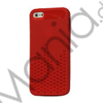 Image of   Anti-slip Equalizer TPU Case iPhone 5 cover - Red