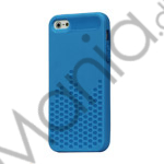 Image of   Anti-slip Equalizer Style TPU Case Shell til iPhone 5 - Blå