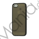 Image of   Two-color Frosted TPU and Plastic Combo Case iPhone 5 cover - Sort / Grå