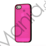 Image of   Two-color Frosted TPU and Plastic Combo Case iPhone 5 cover - Sort / Rose
